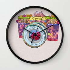 FLORAL CAN0N Wall Clock