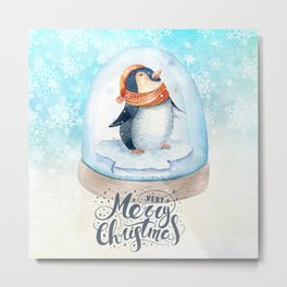 Christmas penguin #3 Metal Print