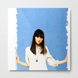 Felicity Jones - Celebrity Art Metal Print