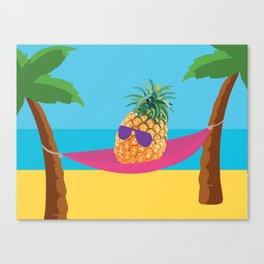 Hammock Hangs in Paradise Canvas Print