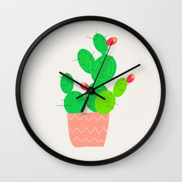 Potted Cactus Wall Clock