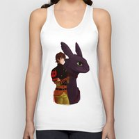 hiccup Tank Tops featuring Hiccup and Toothless by tsunami-sand