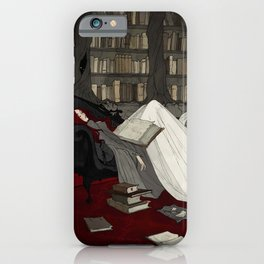 Asleep in the Library iPhone Case
