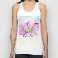 transparent Tank Tops featuring Transparent Cosmos by Kate Havekost Fine Art