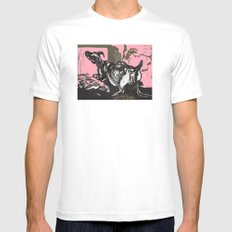 Sheep in Labor MEDIUM White Mens Fitted Tee