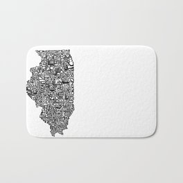 Typographic Illinois Bath Mat
