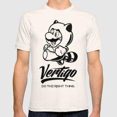 VERTIGO - MARIO TANOOKI Mens Fitted Tee Natural SMALL