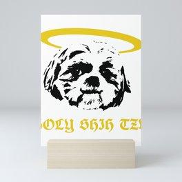 Holy Shih Tzu Funny Dog Pet Animal Pun Mini Art Print