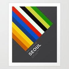 Colors of Seoul Art Print