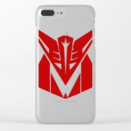 Decepticon Zoltar (Mono) Clear iPhone Case