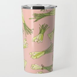 Lemongrass in Pink Travel Mug