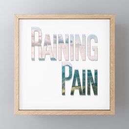 Raining Pain Framed Mini Art Print
