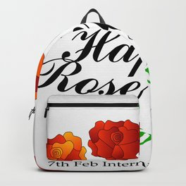 Happy Rose day february 7th- valentine month Backpack