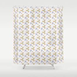 Fidget Spinner Seamless Pattern Shower Curtain