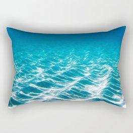 Aqua Blue Bliss Rectangular Pillow