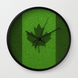 Grass flag Canada / 3D render of Canadian flag grown from grass Wall Clock