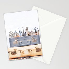 Travel Luggage Stationery Cards
