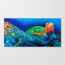 Early Riser - Sea Turtle Canvas Print