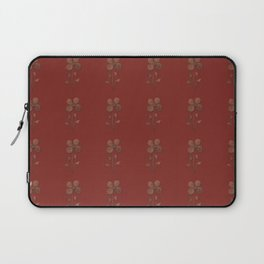 Cute Copper Look Flower Red Canvas Laptop Sleeve