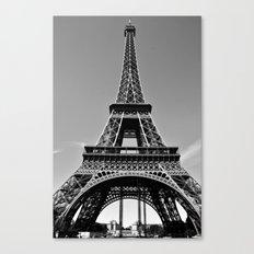 Tower Eiffel En Noir Canvas Print