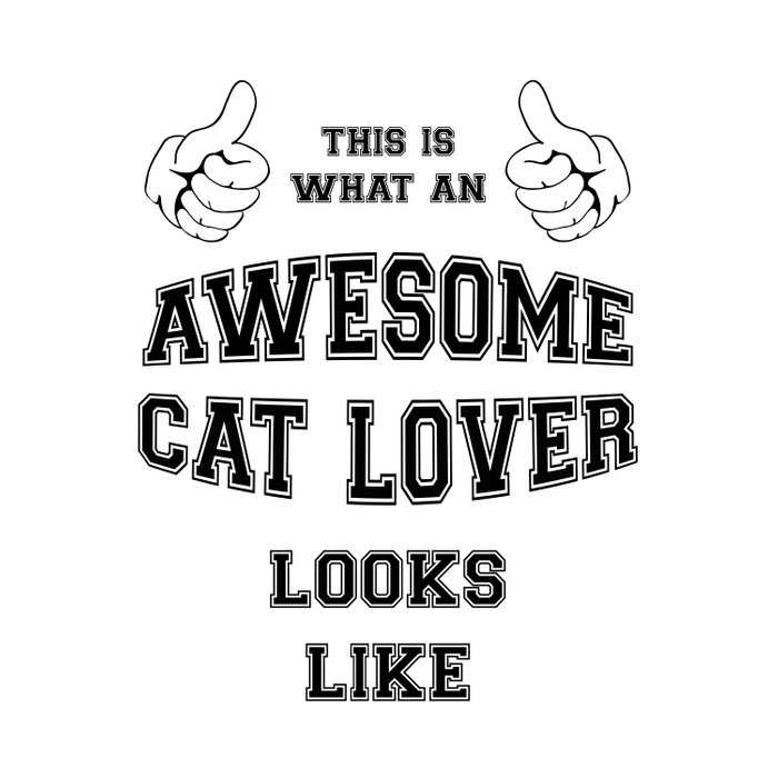 AWESOME CAT LOVER Duvet Cover