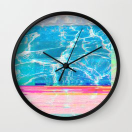 Water Glitch Wall Clock