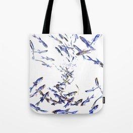 Shoal, Fish, Fishing, Beach, fishing design Tote Bag
