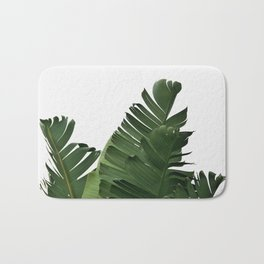 Minimal Banana Leaves Bath Mat