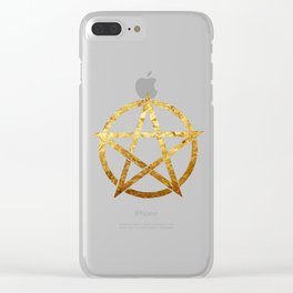 golden Pentagram Clear iPhone Case