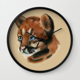 Cougar Cub Wall Clock