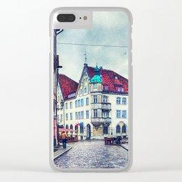 Tallinn art 11 #tallinn #city Clear iPhone Case
