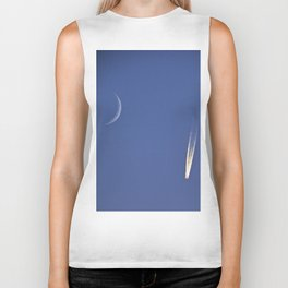 Moon and Jet in the Deep Blue Biker Tank
