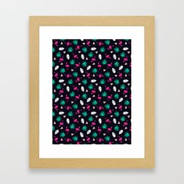 The Dillio - palm springs memphis throwback grid pattern flamingo tropical chilled vibes Framed Art Print