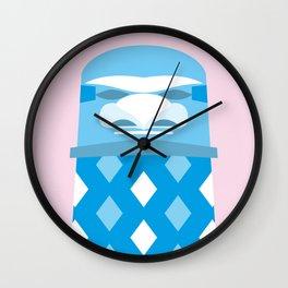 Blue Tiki Wall Clock