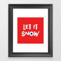 let it snow (evil eye) Framed Art Print