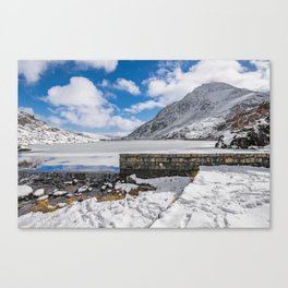 Weir At Ogwen Lake Canvas Print