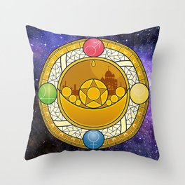 Sailor Moon Crystal stained glass window Transformation Brooch Throw Pillow