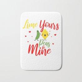 Valentine Day Gift Idea Shirt for Couples BF & GF Dark Light Bath Mat