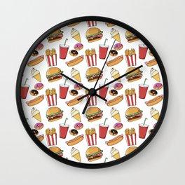 Fast Food Pattern Wall Clock