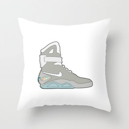 Air Mag grey - back to the future Throw Pillow
