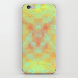 spring abstract  yellow organge green pattern iPhone Skin