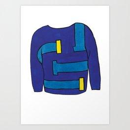 Season 1, Episode 2 (full sweater) Art Print