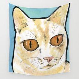 Owen Orange Eyes Wall Tapestry