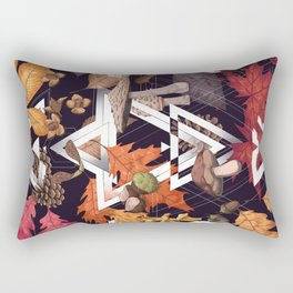Fall Foliage Shape Rectangular Pillow