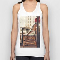 cafe Tank Tops featuring Paris Cafe by Nina's clicks