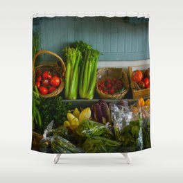 Eat Your Veggies Shower Curtain