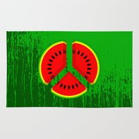 watermelon Area & Throw Rugs featuring Watermelon by mailboxdisco