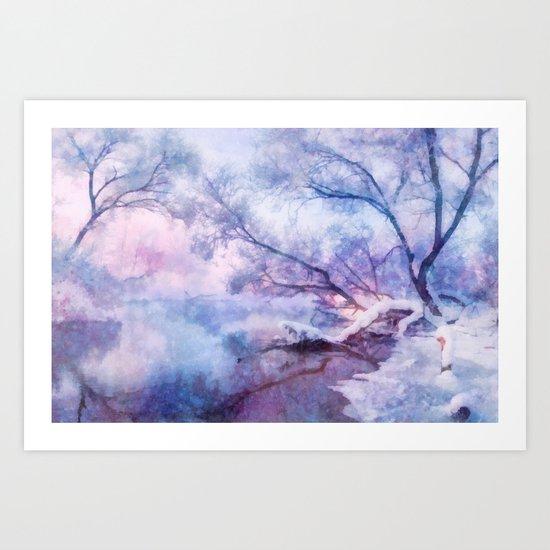 Winter fairy tale Art Print