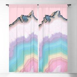 Rainbow Agate Slice Blackout Curtain