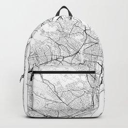 Budapest Map White Backpack
